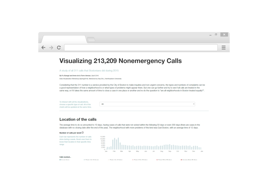 Visualizing 213,209 Non-Emergency Calls (Boston)